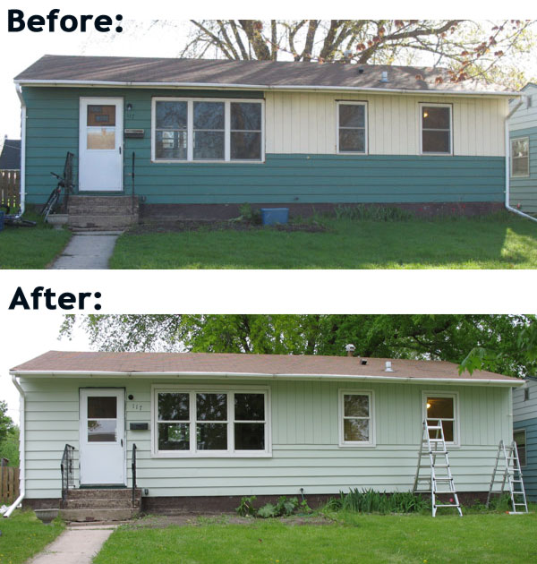 House painting: before and after